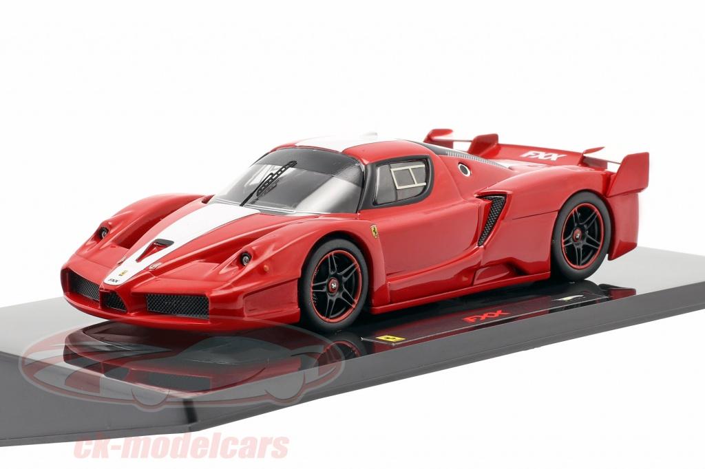 hotwheels-elite-1-43-ferrari-fxx-construit-en-2006-rouge-avec-bande-blanche-elite-n5605/