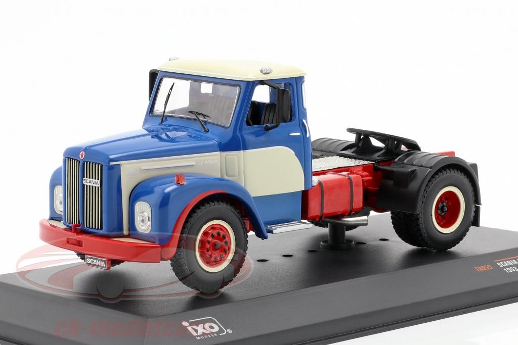 ixo-1-43-scania-110-super-lastbil-bygger-1953-bl-hvid-rd-tr059/