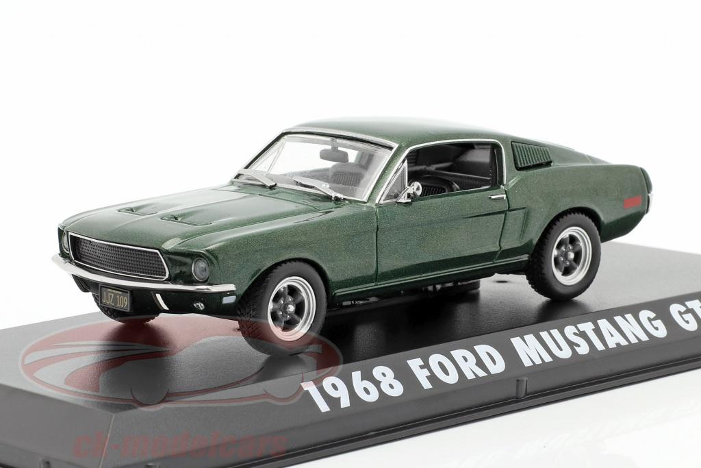 greenlight-1-43-ford-mustang-gt-steve-mcqueen-de-o-filme-bullitt-1968-verde-metalico-86431/