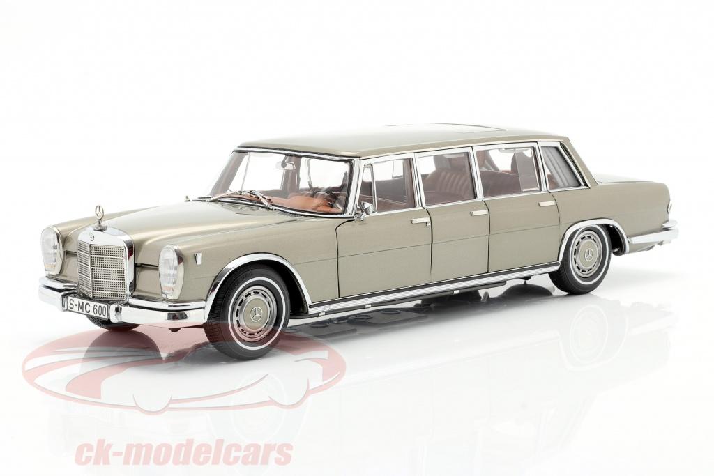cmc-1-18-mercedes-benz-pullman-w-100-limousine-avec-toit-ouvrant-vison-gris-m-204/