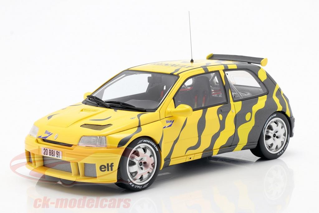 ottomobile-1-18-renault-clio-maxi-presentation-car-1995-black-yellow-ot822/