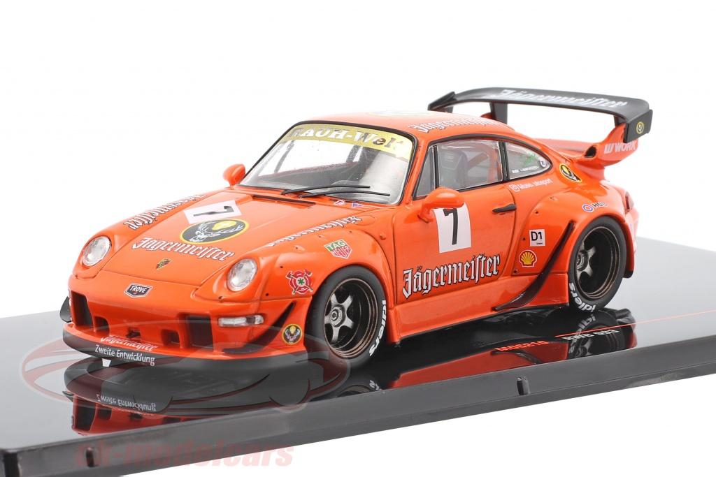 ixo-1-43-porsche-911-993-rwb-no7-rauh-welt-jaegermeister-orange-moc210/