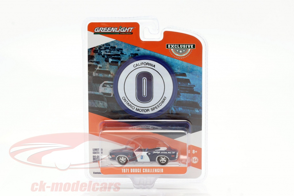 greenlight-1-64-dodge-challenger-no0-official-pace-car-ontario-motor-speedway-30145/
