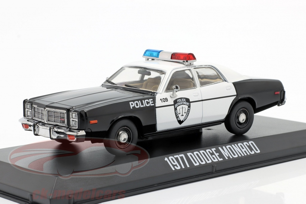 greenlight-1-43-dodge-monaco-police-annee-de-construction-1977-noir-blanc-86588/