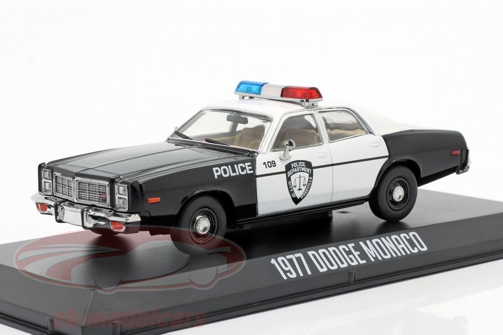 greenlight-1-43-dodge-monaco-police-bouwjaar-1977-zwart-wit-86588/