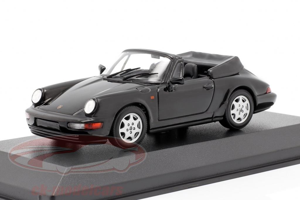 minichamps-1-43-porsche-911-carrera-4-cabriolet-r-1990-sort-940067331/