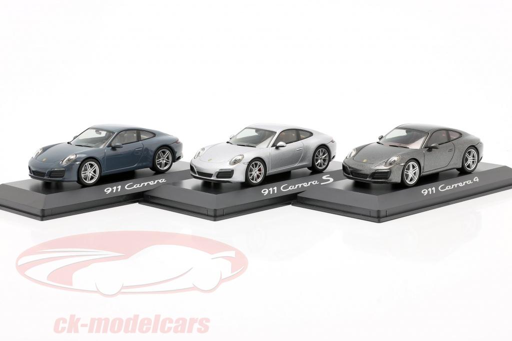 herpa-1-43-3-coches-conjunto-porsche-911-991-ii-carrera-2016-azul-grafito-plata-gris-wap0201160g-wap0201280g-wap0201030g/