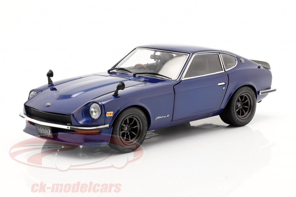 kyosho-1-18-nissan-fairlady-z-s30-jaar-1970-blauw-metalen-minichamps-08220bl/