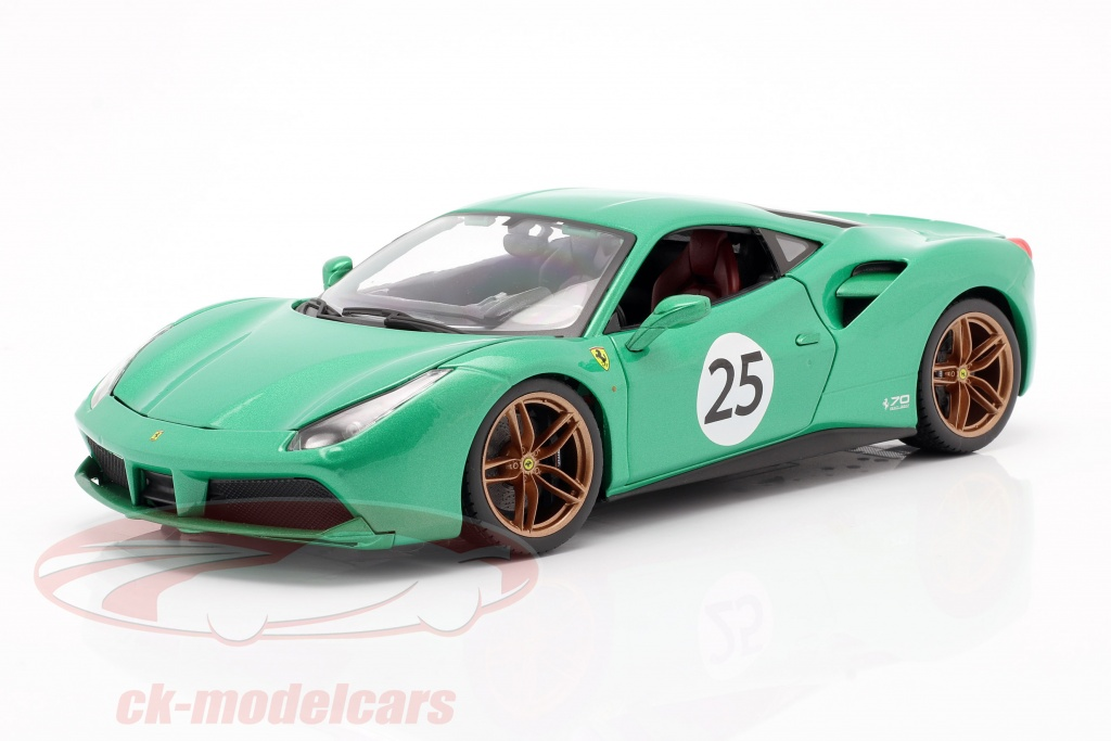 bburago-1-18-ferrari-488-gtb-no25-the-green-jewel-70-aniversario-coleccion-verde-18-76101/