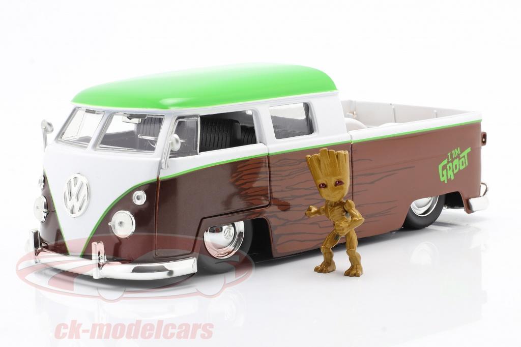 jadatoys-1-24-volkswagen-vw-bus-pickup-1963-avec-figure-groot-marvel-guardians-253225013/
