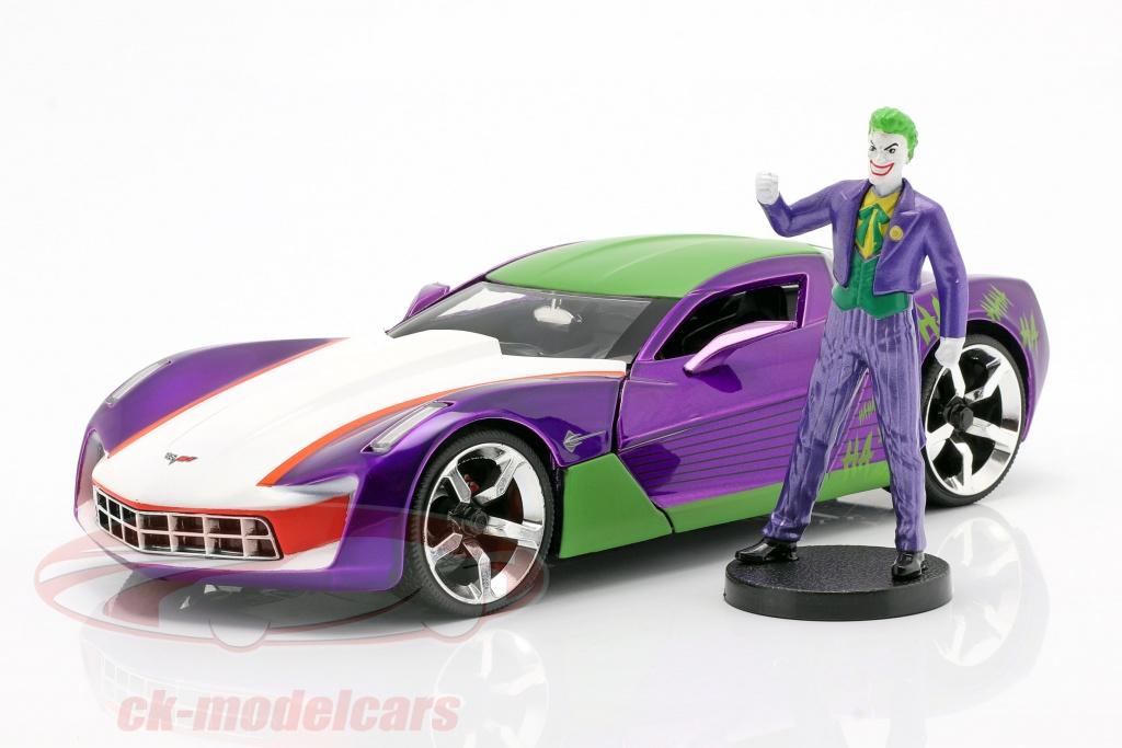 jadatoys-1-24-chevrolet-corvette-stingray-2009-with-figure-the-joker-dc-comics-253255020/