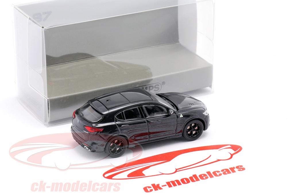 Minichamps 1:87 870120204 2018 Alfa Romeo Stelvio Quadrifoglio schwarz met.