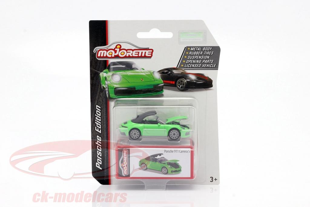 majorette-1-64-porsche-911-carrera-s-cabriolet-groen-ck62871/