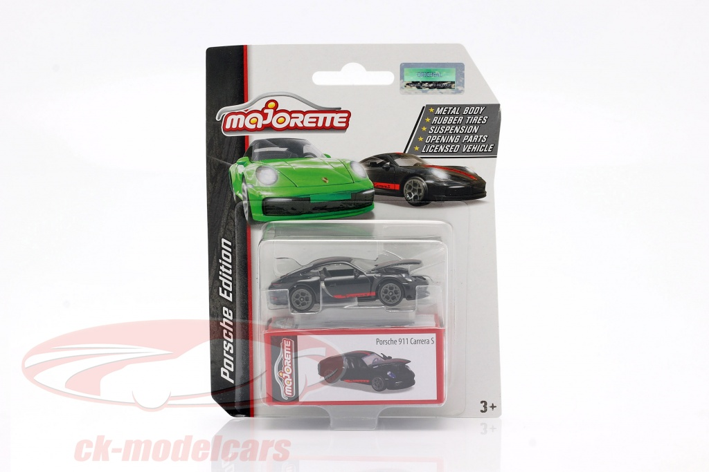 majorette-1-64-porsche-911-carrera-s-coupe-sort-rd-ck62870/