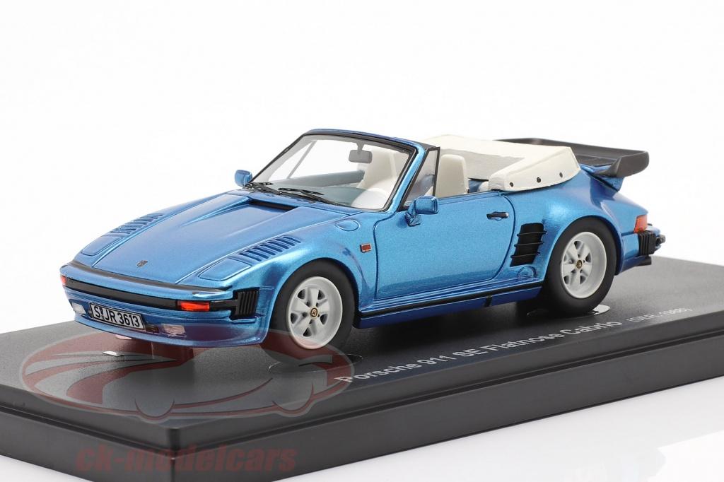 autocult-1-43-porsche-911-se-flatnose-cabrio-bouwjaar-1988-blauw-metalen-60045/