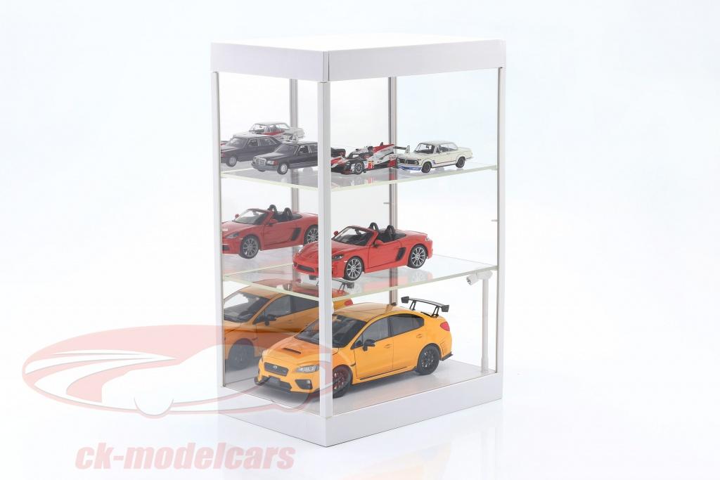 enkelt-udstillingsvindue-med-led-lys-og-spejl-til-vgt-1-18-1-24-1-43-hvid-triple9-t9-69927mw/