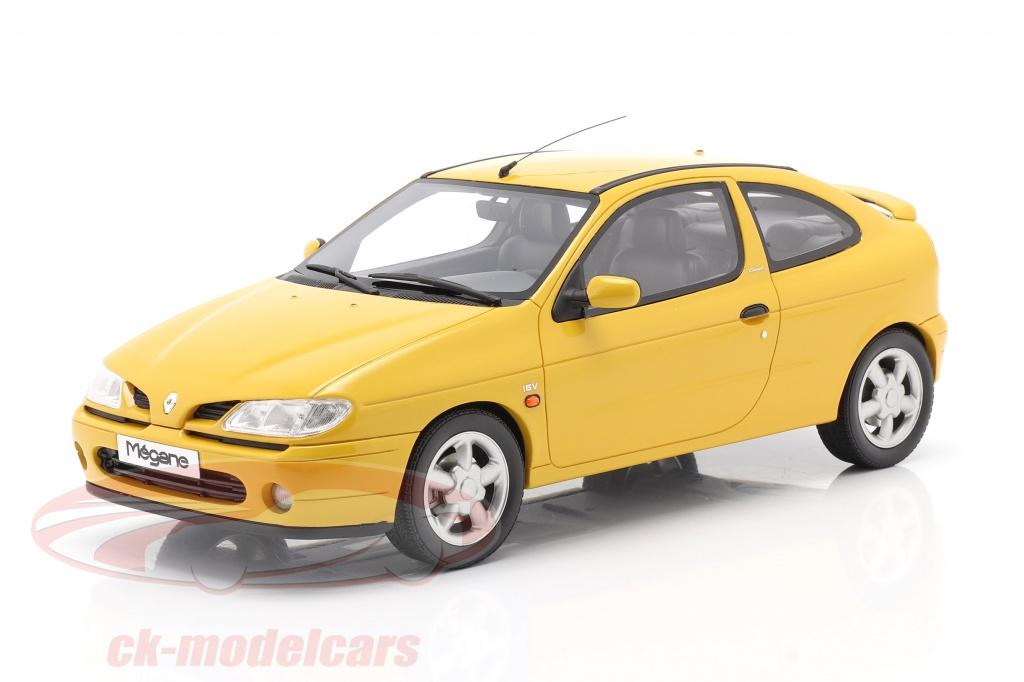 ottomobile-1-18-renault-megane-mk1-coupe-20-16v-bygger-1999-solsikke-gul-ot343/