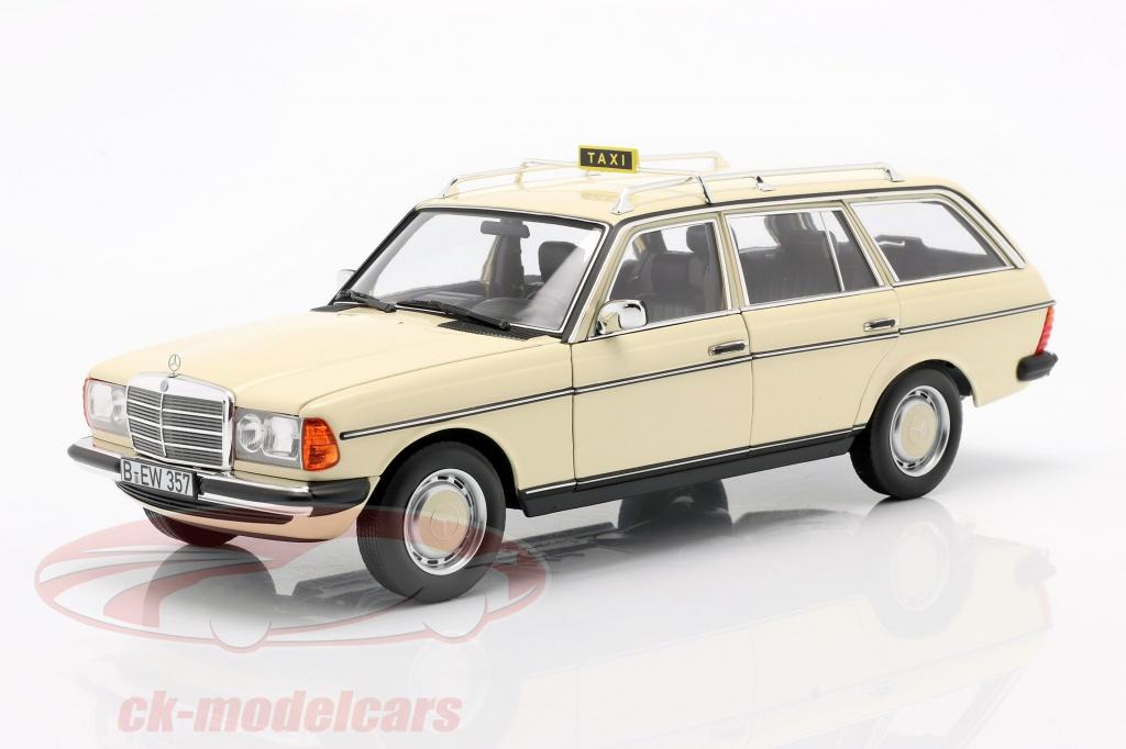 norev-1-18-mercedes-benz-200-t-s123-taxi-ano-de-construccion-1982-marfil-claro-183731/