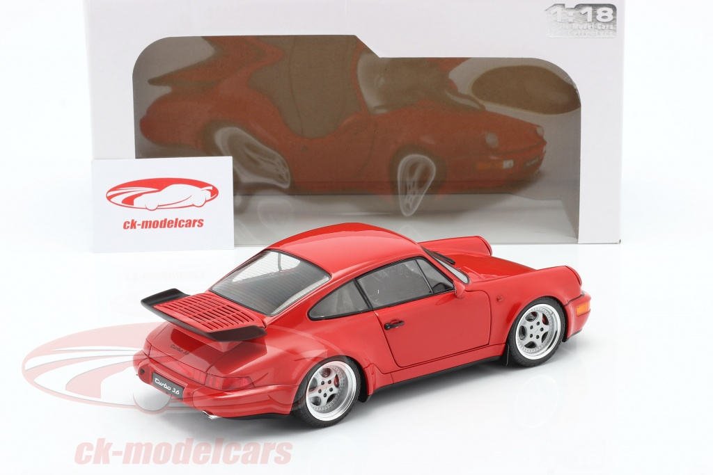 Solido 1 18 Porsche 911 964 3 6 Turbo Year 1990 Guards Red S1803402 Model Car S1803402 3663506008788