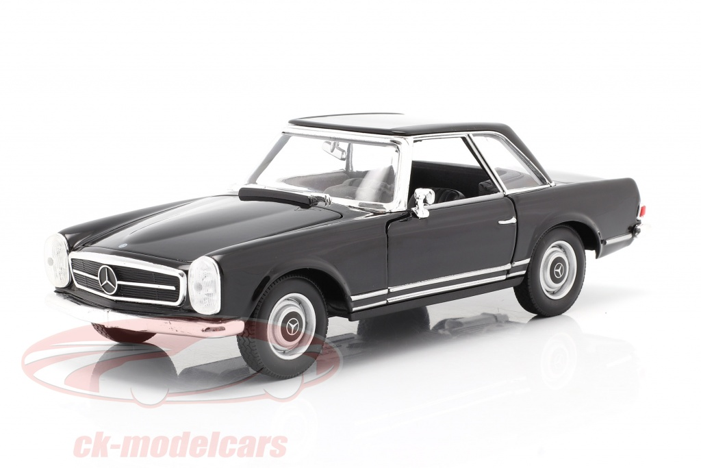 welly-1-24-mercedes-benz-230-sl-w113-hardtop-anno-di-costruzione-1963-nero-24093bk/