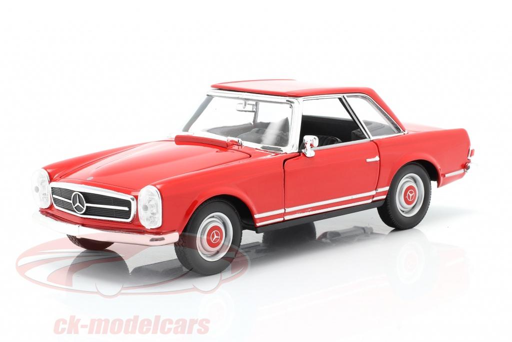 welly-1-24-mercedes-benz-230-sl-w113-hardtop-annee-de-construction-1963-rouge-24093r/