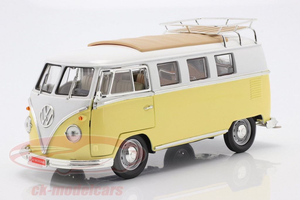 lucky-diecast-1-18-volkswagen-vw-t1-microbus-camping-ano-de-construccion-1962-amarillo-blanco-92328/