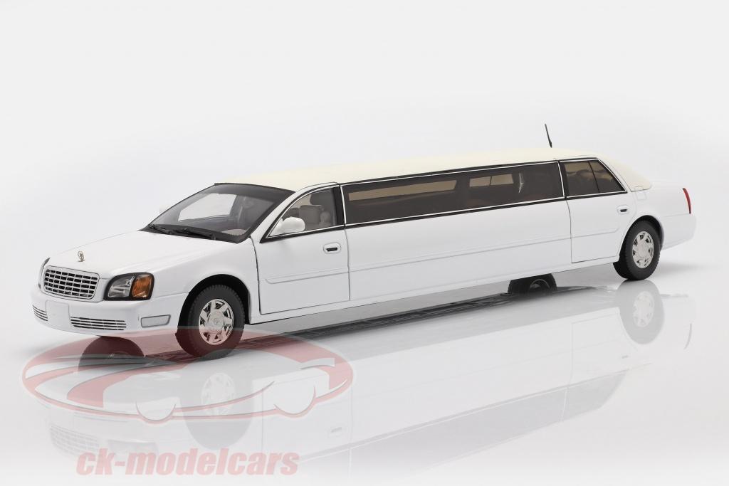sun-star-models-1-18-cadillac-deville-limousine-bygger-2004-hvid-4232/