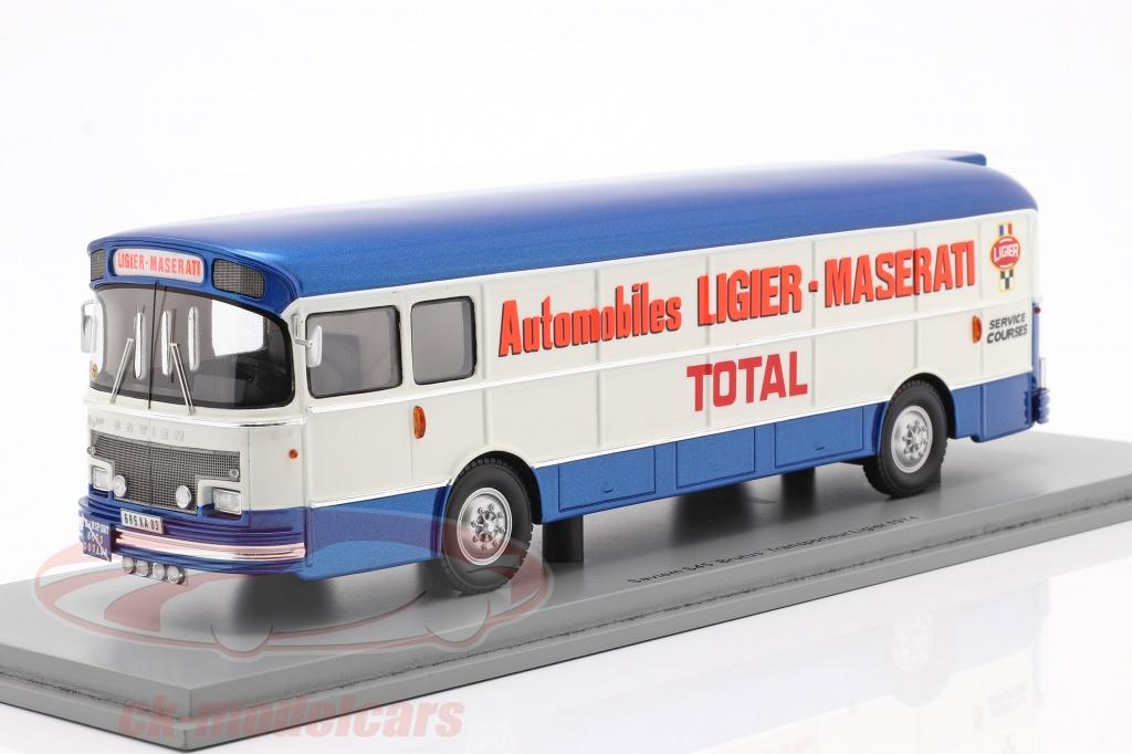 spark-1-43-saviem-transporter-1974-formel-1-team-ligier-blau-weiss-s2698/