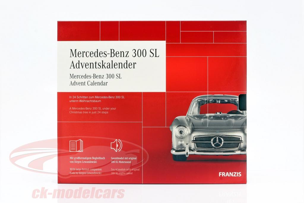 franzis-1-43-mercedes-benz-300-sl-calendario-de-adviento-2020-mercedes-benz-300-sl-plata-67129/