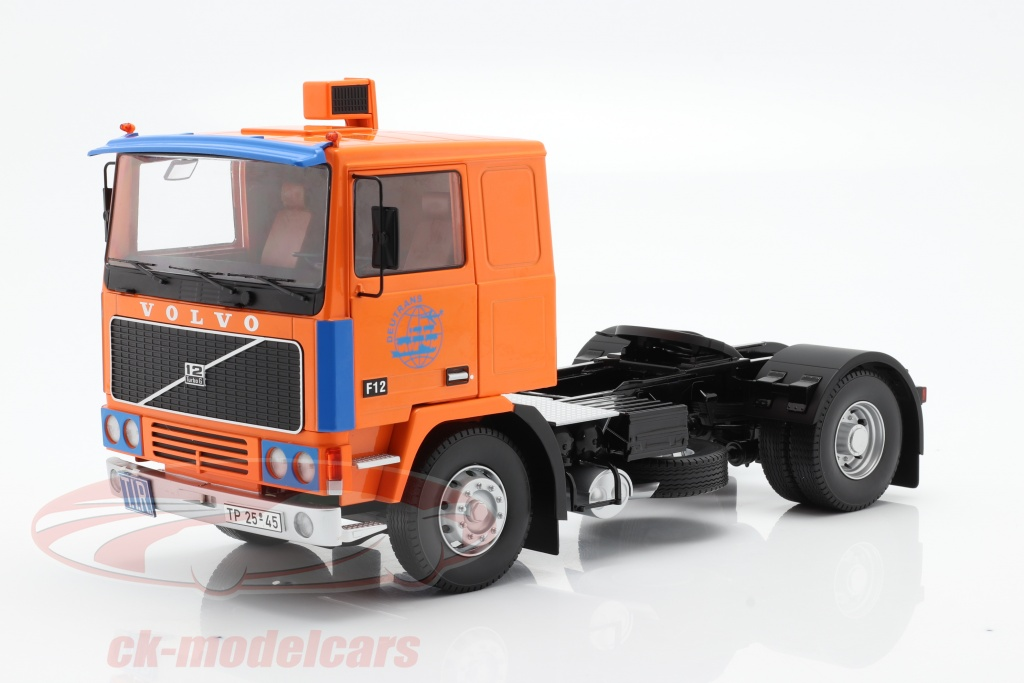 road-kings-1-18-volvo-f12-vrachtwagen-deutrans-bouwjaar-1977-oranje-blauw-rk180034/