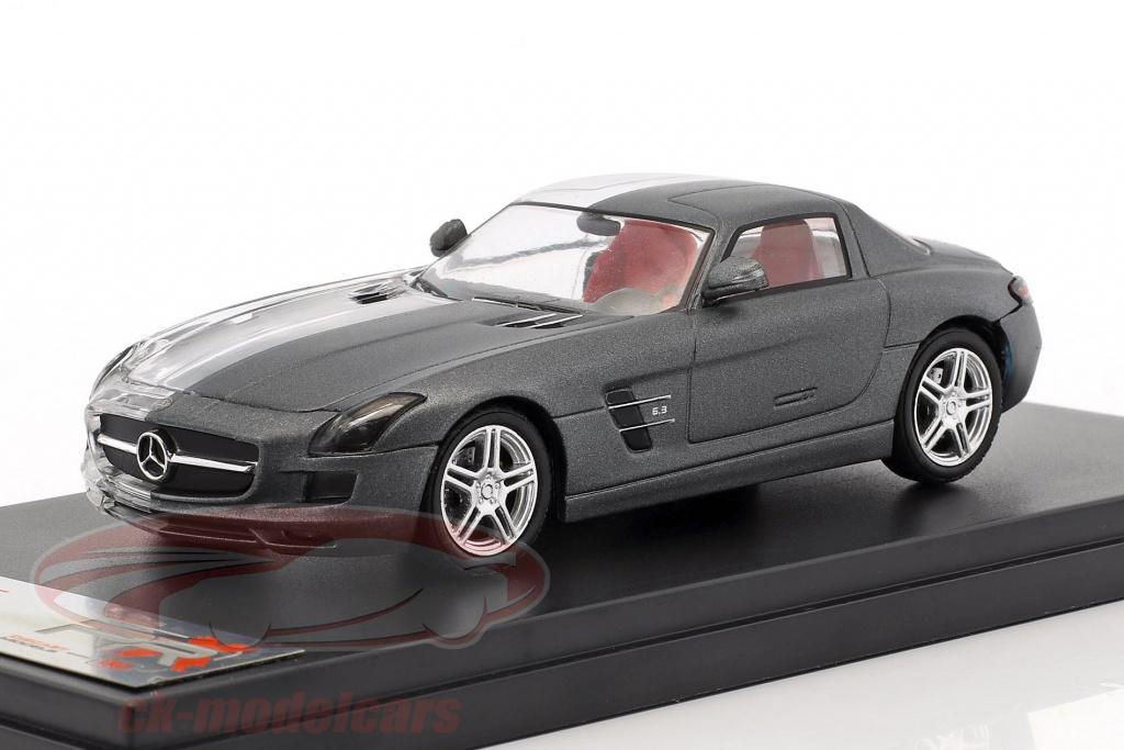 premium-x-1-43-mercedes-benz-sls-amg-annee-de-construction-2011-terne-gris-transparent-prx001le/