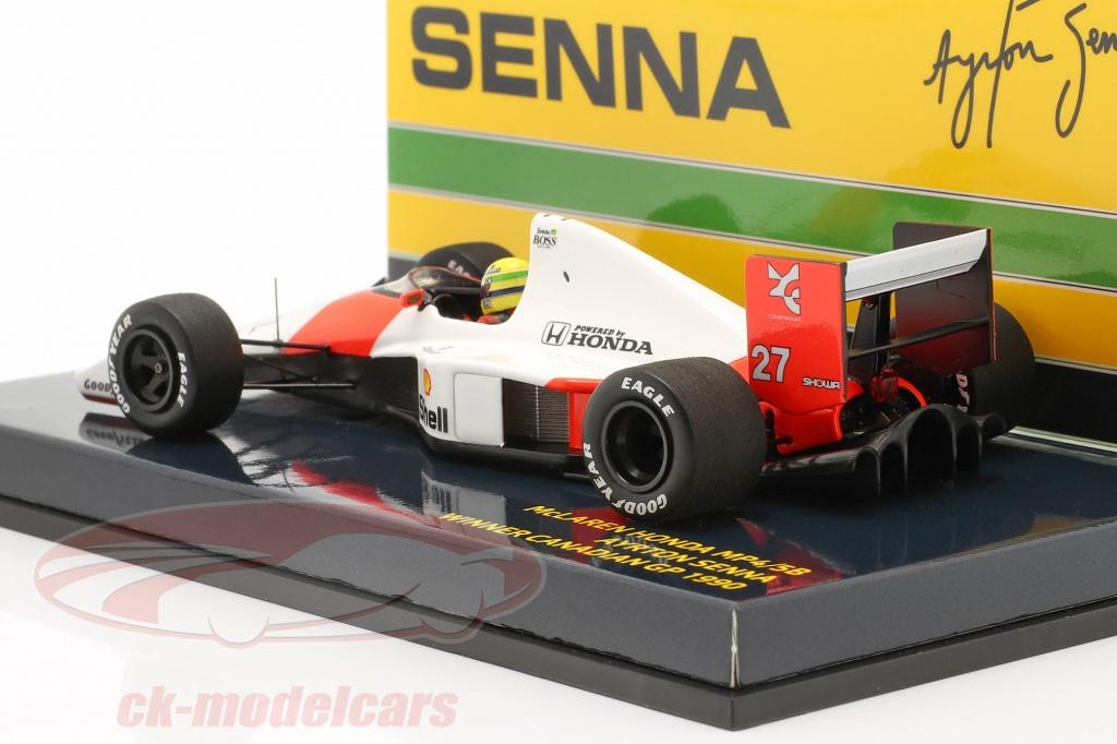 1:43 Minichamps McLaren Honda MP4//5B Winner GP Canada Senna 1990