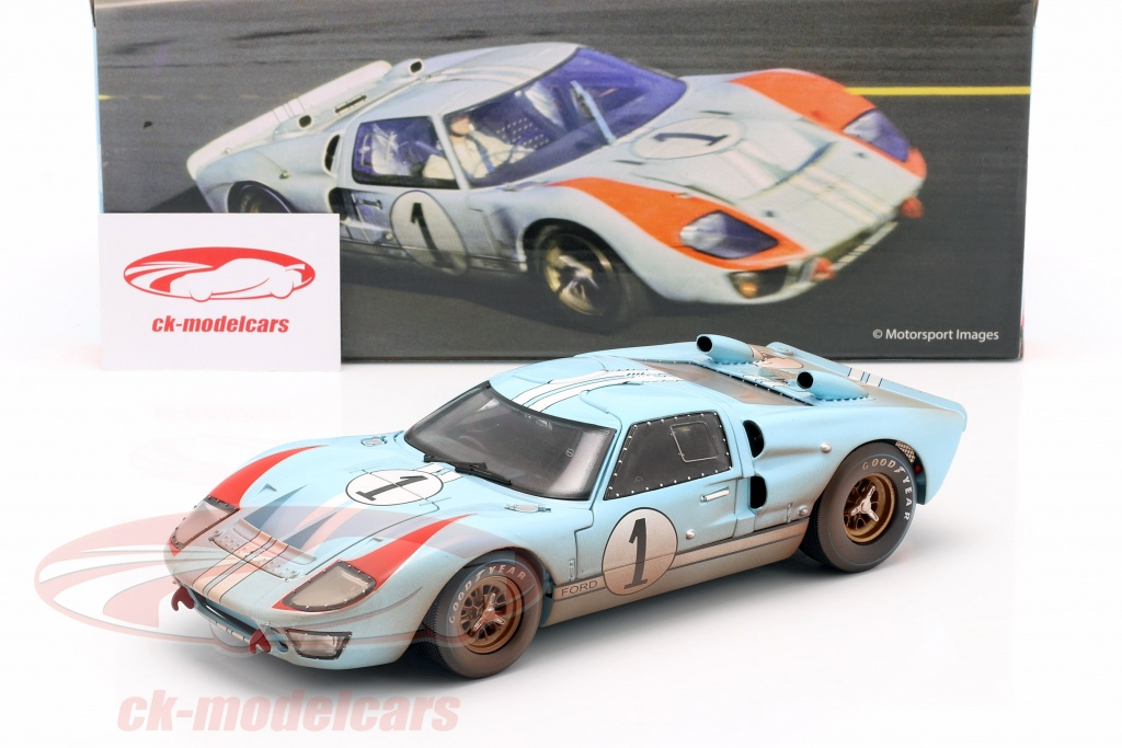 Shelby Collectibles 1 18 Ford Gt40 Mk Ii Dirty Version 1 2nd 24h Lemans 1966 Miles Hulme Shelby405 Model Car Shelby405 814770014057