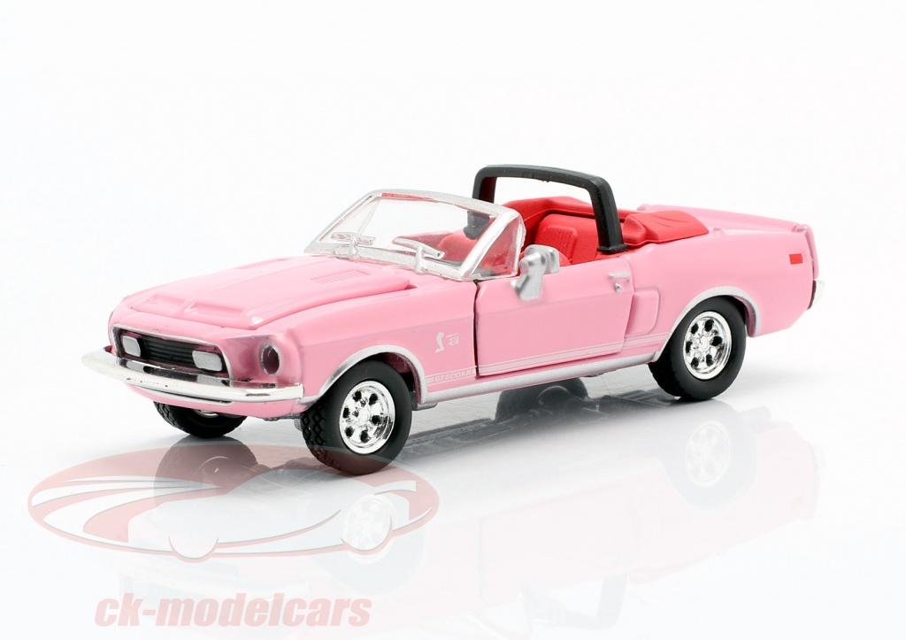 shelby-collectibles-1-64-shelby-gt500kr-converteerbaar-bouwjaar-1968-roze-ck63349/