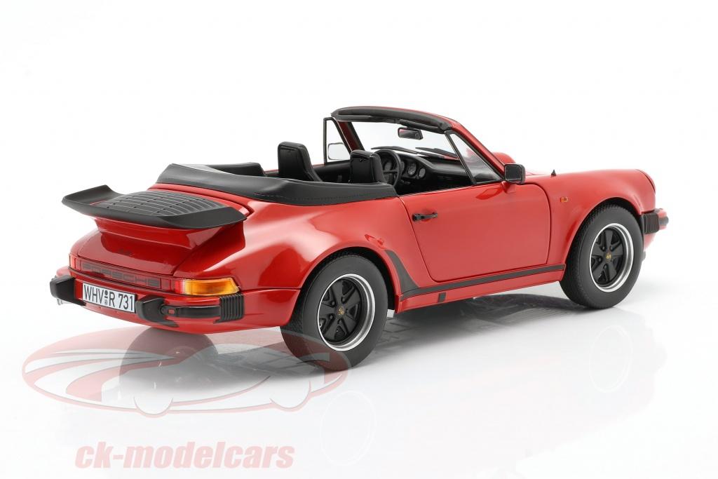 Porsche 911 Turbo Cabrio 1987 rot Modellauto 1:18 Norev