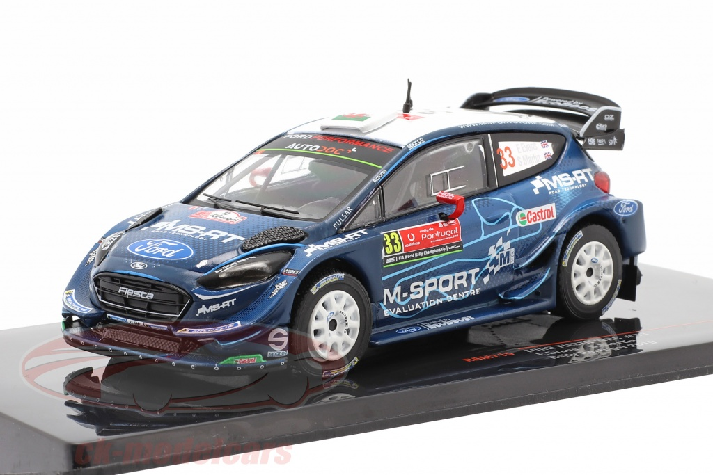 ixo-1-43-ford-fiesta-wrc-no33-5e-rallye-le-portugal-2019-evans-martin-ram715/