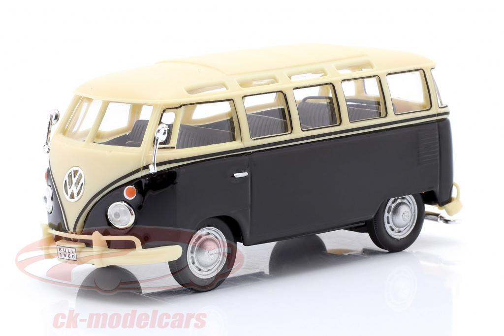 cararama-1-43-volkwagen-vw-t1-samba-bus-med-tow-bar-r-1950-sort-beige-4-60343/