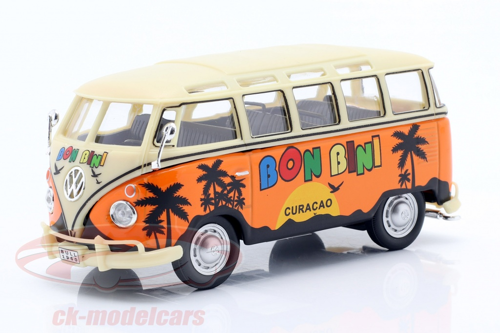 cararama-1-43-volkwagen-vw-samba-curacao-bon-bini-bouwjaar-1950-oranje-beige-4-60351/