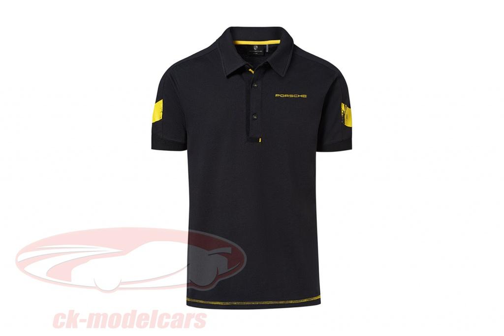polo-shirt-porsche-718-cayman-gt4-clubsport-schwarz-gelb-wap34400s0lcls/s/