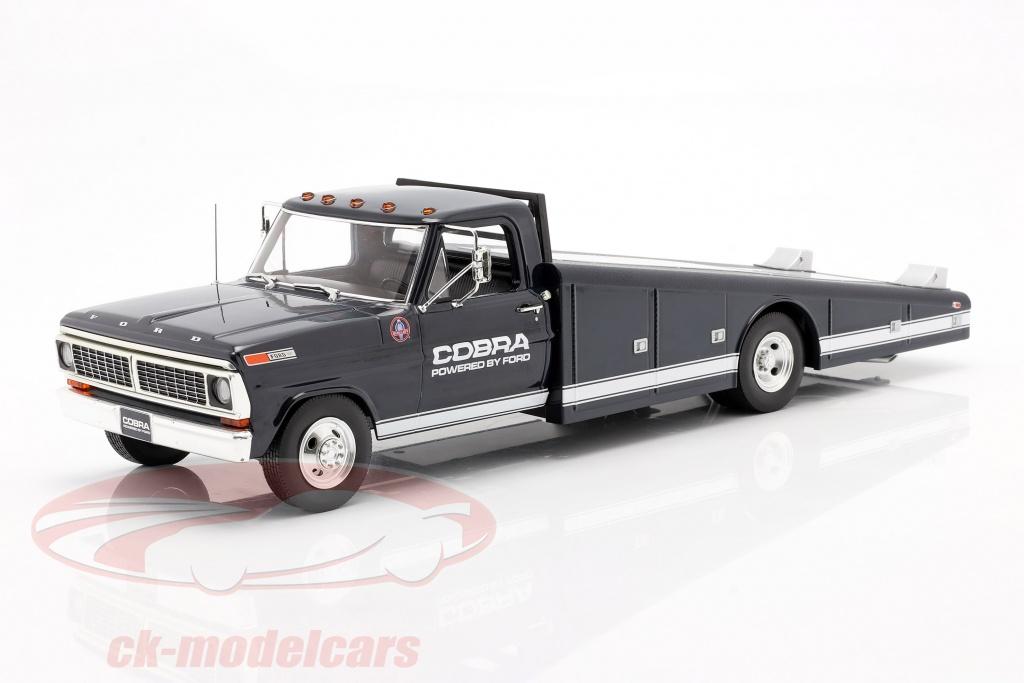 gmp-1-18-ford-f-350-ramp-truck-shelby-cobra-bygger-1970-bl-hvid-1801405/
