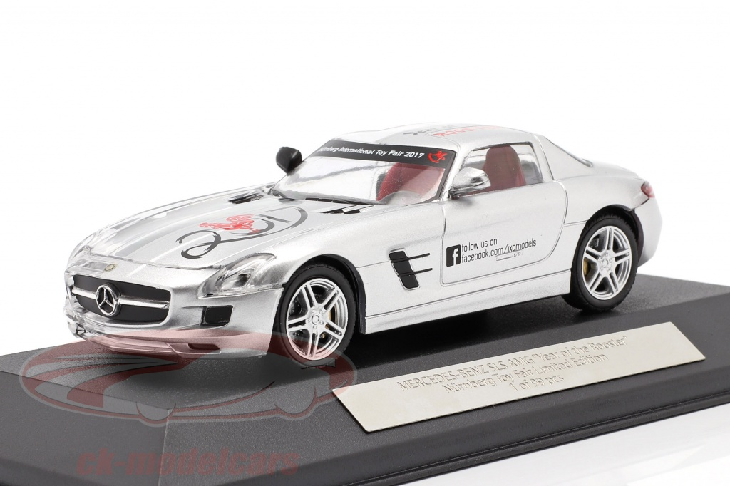ixo-1-43-mercedes-benz-sls-amg-year-of-the-rooster-toyfair-nuernberg-2017-silver-ixo2017/