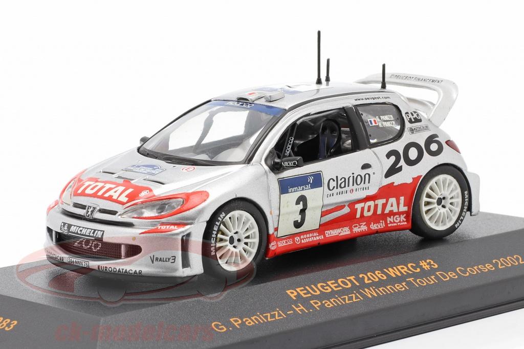 ixo-1-43-peugeot-206-wrc-no3-winner-tour-de-corse-2002-panizzi-panizzi-ram083/