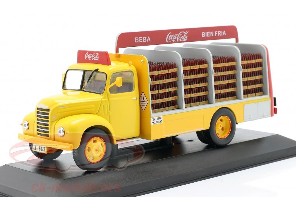 altaya-1-43-ebro-b-45-vrachtwagen-coca-cola-bouwjaar-1962-geel-rood-magpub003/