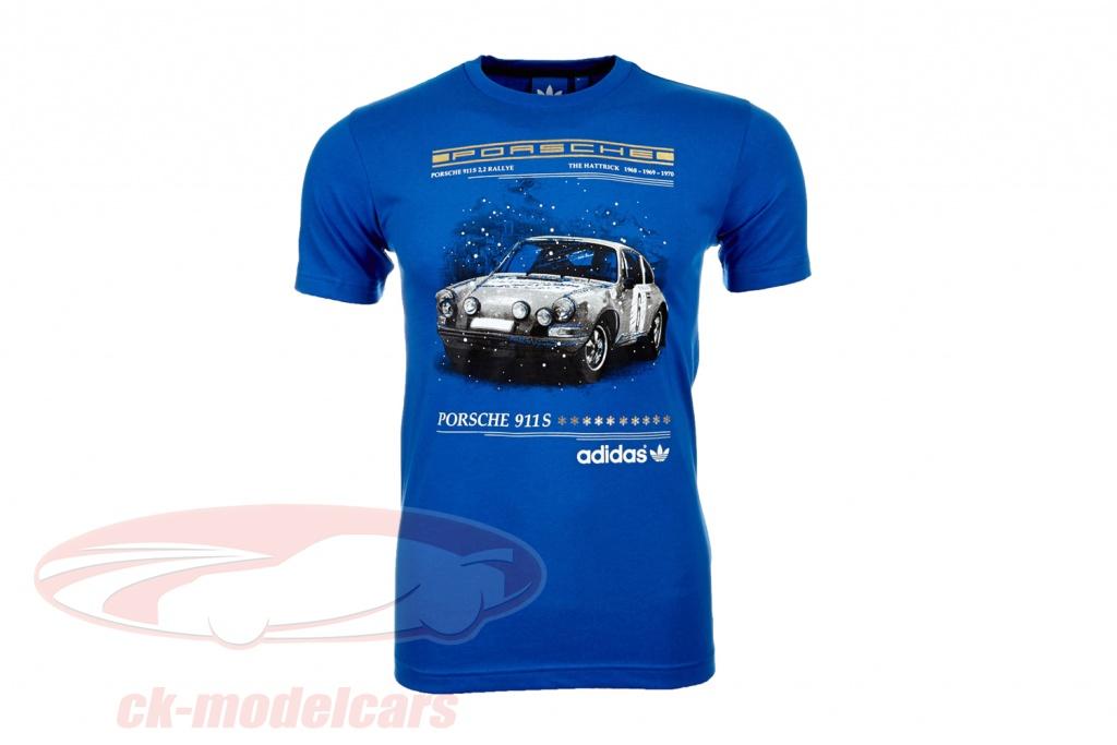 porsche-t-shirt-porsche-911-s-the-hattrick-adidas-blue-g72696/m/