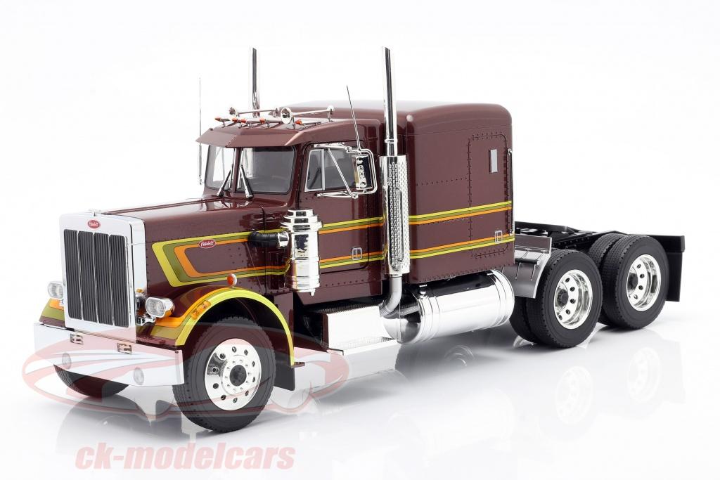 road-kings-1-18-peterbilt-359-bull-nose-vrachtwagen-1967-bruin-metalen-rk180081/