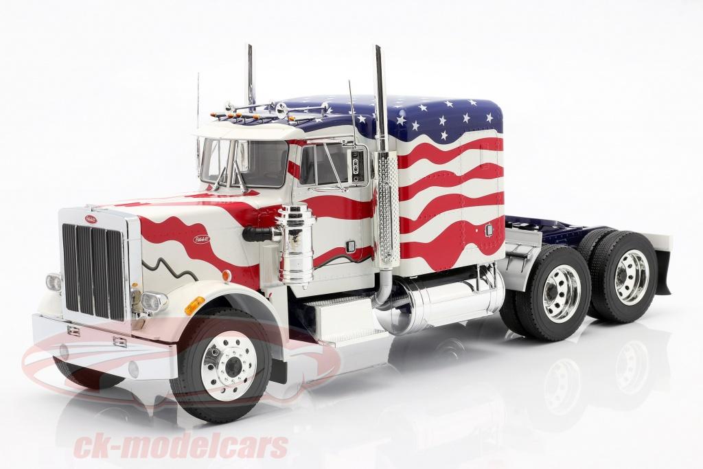 road-kings-1-18-peterbilt-359-bull-nose-vrachtwagen-1967-stars-and-stripes-rk180082/