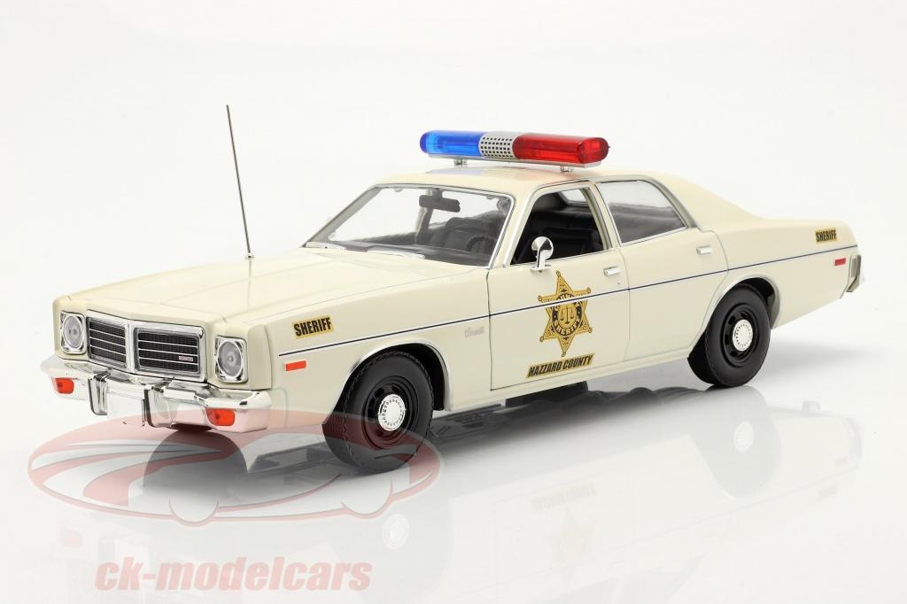 greenlight-1-18-dodge-coronet-hazzard-county-sheriff-year-1975-white-19092/