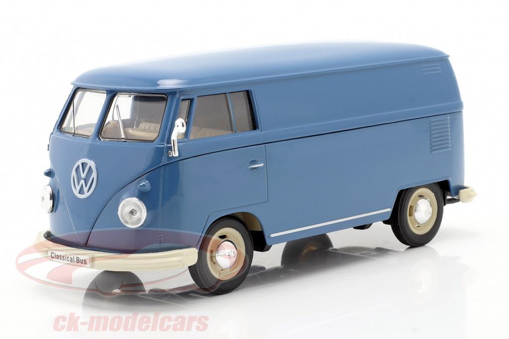 welly-1-24-volkswagen-vw-bulli-t1-van-annee-de-construction-1963-bleu-22095pvb/