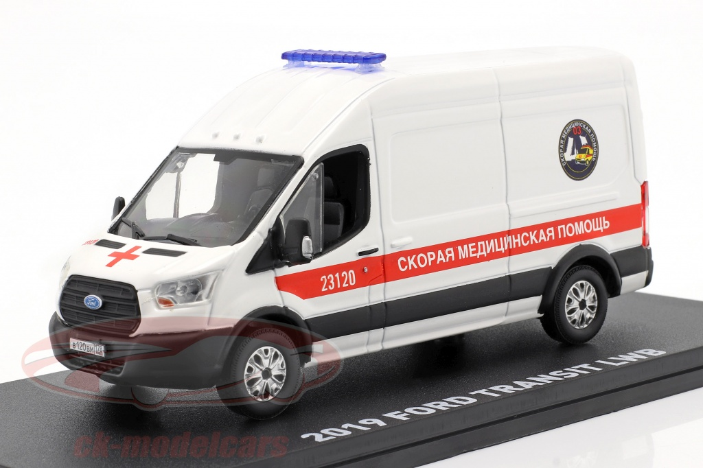 greenlight-1-43-ford-transit-lwb-ambulance-st-petersburg-year-2019-white-86182/