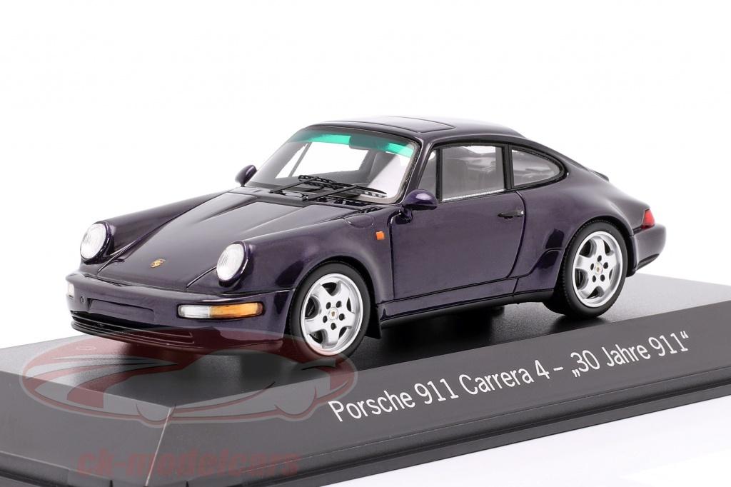 spark-1-43-porsche-911-carrera-4-30-anos-911-roxa-metalico-map02051120/